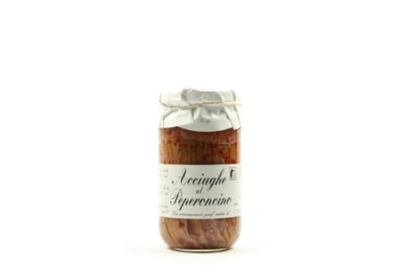 Acciughe al peperoncino, 200 g, Riolfi