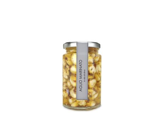 Aglio marinato in olio extravergine di oliva, 300 g, Alpes