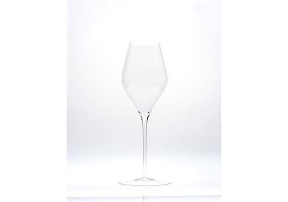Glas für Champagner, mundgeblasen, Sophienwald