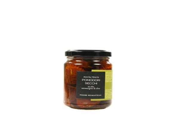 Involtini pomodori secchi tonno e capperi, in olio extravergine, 314 ml, Belmantello