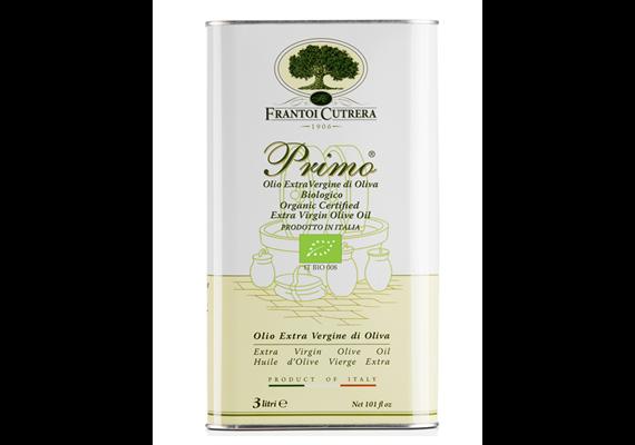 Olio extravergine PRIMO Biologico, tanica 3000 ml, Cutrera