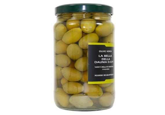 """Olive """"Bella di Cerignola"""" DOP, in salamoia, 1700 ml, Belmantello"""