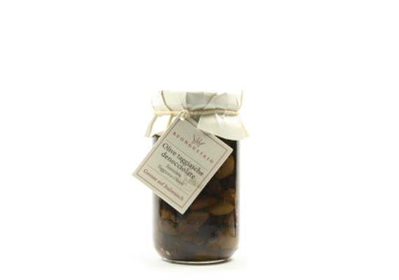 Olive taggiasche denocciolate in olio extravergine, 180 g, Buongustaio
