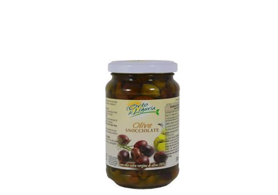 Olive taggiasche snocciolate in olio extravergine, 300 ml, L' Orto di Liguria