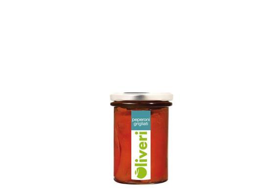 Peperoni grigliati, 190 g, Oliveri